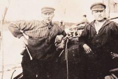 Friedrich Schilling (li) letzter Schiffer in Sethlerhemm