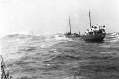 MS Ostesand in einem Nordseesturm