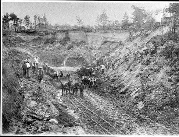 Heidestrandbad Tonkuhle um 1903
